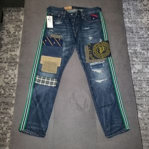 Polo Ralph Lauren distressed patchwork jeans